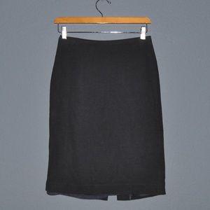 CLUB MONACO Navy Blue Pencil Skirt [E6]